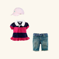 2013 Fashion Kids Summer Clothing Set 3 Pcs Girls Cat And Cotton Top And Pants Children Easter Clothes Suit