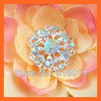 Free Shipping!100pcs  26mm Round CrystalAB Rhinestone Cluster,Wedding  Embellishment ,,With flatback for invitation card