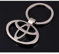 TOYOTA car emblems Keychain TOYOTA Keyrings TOYOTA Key Chain Ring Key Fob car keychain car key rings  car key ring free shipping