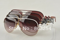 New Arrival   Luxury Women Brand Sunglasses designer GG4225 Metal Big Size Sun glasses for women Free shipping with original box