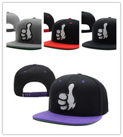 Cheap DOPE Snapback caps Thumb Up black / red men & women's most popular basketball hats freeship !