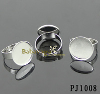 100pcs Adjustable Blank Ring18mm Bezel Base For 18mm Cabochon Free Shipping