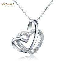 Maomao twinoxide silver necklace female 925 pure silver pendants necklace accessories silver necklace engraving