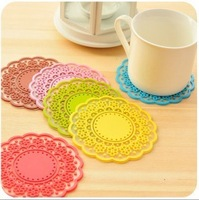 5pcs/lot Colorful Fashion Waterproof Silicone Heat Pad Dishes Placemat Pot Holder Coasters Coffee Cup Mats