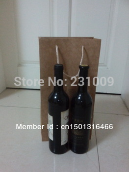 brown paper bag  for red wine (39cm*20cm*9cm)
