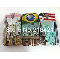 Wholesale 10PCS New Fashion US UK Flag Style Hard Case Skin Cover Shell for Samsung Galaxy S4 i9500 Anti-Scratch Free Shipping