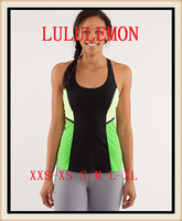2014 newest Hot  POWER Y TANK lululemon yoga wear on sale, Wholesale lulu lemon women vest, size XXS,XS,S,M,L,XL