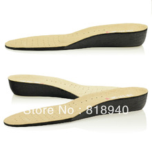 Leather Layer Insole Heel Lift Height Increase Shoe Air Cushion Elevator Pad New(China (Mainland))