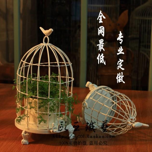 Limpar estoque grátis frete moda gaiola de ferro único ferro gaiolas decorativas do pássaro(China (Mainland))