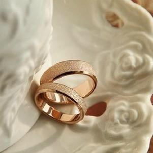 Titanium Minimalist matte rose gold titanium steel ring