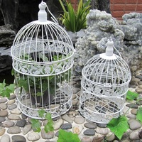 Clear stock Free Shipping iron birdcage flower wrought iron  decoration Art Bird Cages 25*25*45cm