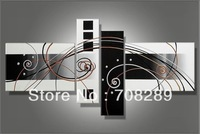 160x70 cm white black grey abstract Oil paintings on canvas home decoration Modern Painting living room wall b111