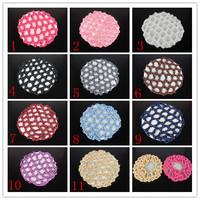 2015 Mesh for Hair Cap Making Caps free Shipping/ 10pcs Bun Cover Snood Hair Net Ballet Dance Skating Crochet Beautiful Colors