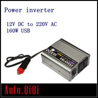 Car Inverter USB DC 12V to AC 220V Power Inverter Adapter 160W 160 Watt
