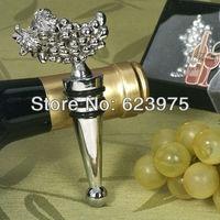 Sliver Grapes Design Wine Stopper Wedding Party Gift (Set of 12)