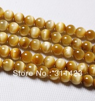 tiger eye stone Beads 8mm Fashion gold loose Beads jewelry accessories Fit Bracelets and necklace