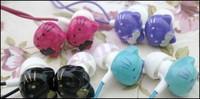 Mii Cute 20pcs/lot 3.5mm Hello Kitty Earphone Headphone In-ear Earphone for MP3 Mp4 Free Shipping