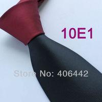 Coachella Men's ties Buygundy  Knot Contrast Black Tie Two Tone Woven Necktie Formal Neck tie for men dress shirts Wedding