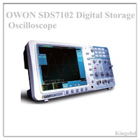 "Top New 8"" LCD10M storage LAN VGA OWON SDS7102 SmartDS Series Deep Memory Digital Storage Oscilloscope high quality --DHL Free"