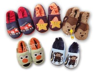 Children shoes autumn and winter cartoon male female child baby cotton-padded shoes at home child cotton-padded package with