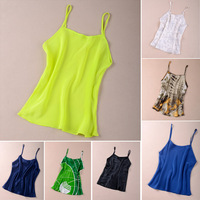 Free shipping Small silk spaghetti strap top vest women's all-match basic mulberry silk  -Silk88