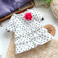 free shipping baby girl polka dot  t-shirt ,female children top cake short-sleeve t-shirt  for summer