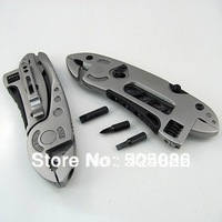 HOT! Steel Multifunction Tool Outdoor Survival Knife Multi-tool Pliers Spanner Tools Free Shipping
