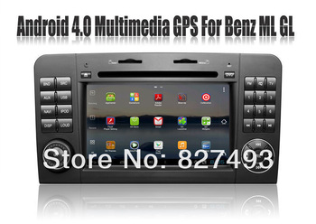 Android 4.0 Car DVD Player for Mercedes Benz ML Class W164 ML300 ML350 GL X164 with GPS Navigation Radio Bluetooth TV 3G WIFI