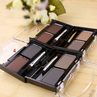 Free Shipping,EYEBROW POWDER ,Eye Brow Brush 2 color eyebrow cake Wholesale,(Eyeshadow, lip gloss ,blush and foundation)