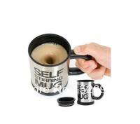 Free Shipping 4pcs/lot  Automatic Coffee Mixing Cup/Mug Bluw Stainless Steel Self Stirring Electic Coffee Mug 350ml Gift