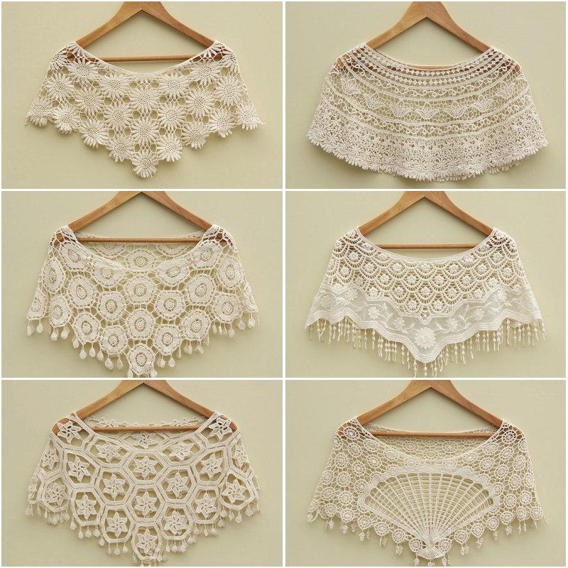 Small cape all-match lace shrug short jacket shirt sun protection clothing cutout sweater(China (Mainland))