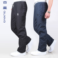 Windproof waterproof thickening male sports pants brand trousers thermal trousers thickening polar casual men's snow pants