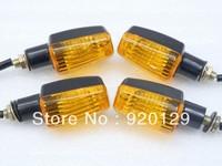 4 x Black/Amber Turn Signal Light for Honda Kawasaki Yamaha Suzuki Free shipping
