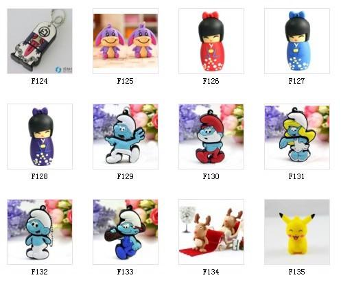 Wholesales 50pcs/lot cartoon usb 2.0 memory stick thumb pen drive car gift free shipping (mix to buy)(China (Mainland))