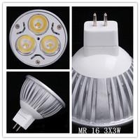 2014 Hoting Dimmable spot light 9w 12V 3X3W MR16 WARM/COOL White LED CREE Light Led Lamp Bulb Spotlight Light 3years Warranty