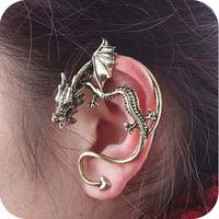 Promotion! Wholesale!  Fashion lady women jewelry vintage gothic punk alloy dragon earring (left ear/1 piece) ER125