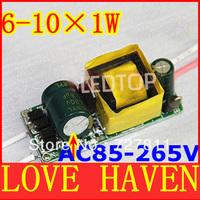 20pcs/lot,(6-10)x1W Common Use 6-10W led driver,6W7W8W9W10W lamp transformer 85-265V inside driver for LED DIY free shipping