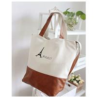 2014 Womens Ladys Retro classic PARIS Eiffel Tower Print Canvas Handbag Shoulder bag