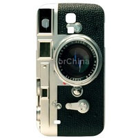 High quality Camera Pattern Plastic Case for Samsung Galaxy S 4 i9500 Support Big Order