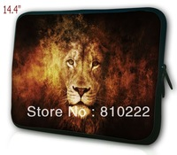 "14"" 14.4""inch waterproof notebook laptop sleeve case handle bag-867 How cool the lion is"