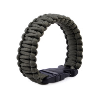 Paracord Parachute Cord 7 Strand Emergency Survival Bracelet with Plastic Buckle-Army Green