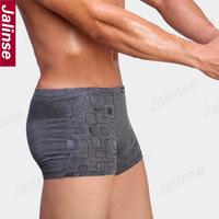 Regenerated fiber male boxer panties male panties men's trunk flat feet panties sexy u
