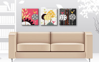 Frameless Diy digital oil painting cherry colour colored drawing 3 abstract collages xiangsi bird 40 120 home decor
