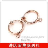 13mm rose gold invisible ear clip no pierced earrings handmade diy accessories elastic 0.7