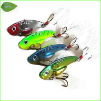 Free Shipping L055M Mix 4 pcs /set VIB Fishing Lure fishing spoon metal fishing lure bait spool