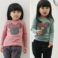 children clothes cute girl spring autumn Minnie long sleeve T Shirt,5pcs/lot