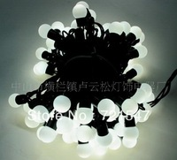 Wholesale and retail LED ball lamp series,High quality waterproof  decoration light,Pure white 10m/100pcs,Free shipping
