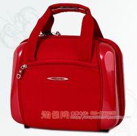 Red glossy abs suitcase 990393 xr