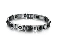 Pulseiras Masculinas Health Bracelet Men Black Stone Energy Magnet Bracelets The Man Chain Charm And Bangle Power Increased