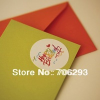 Free shipping (150pcs/lot) Happy birthday sealing paste gift decoration stickers 4.5cm